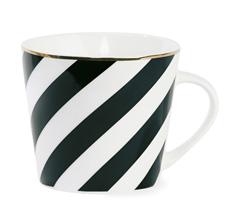 Miss Étoile Kaffeebecher Diagonal Stripes Black