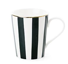 Miss Étoile Kaffeetasse Stripe Black