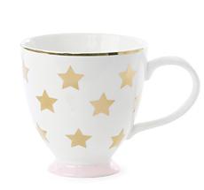 Miss Étoile Kaffeetasse Stars Weiß/Gold
