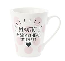 "Miss Étoile Kaffeetasse Big Dots Rosa ""Magic"""
