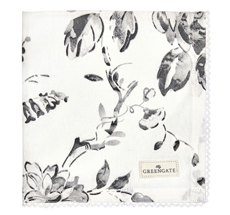 GreenGate Stoff-Serviette Amanda Dark Grey