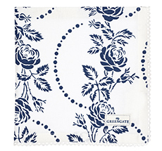 GreenGate Stoffserviette mit Spitze Fleur Blue