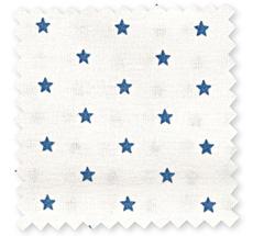 GreenGate Tissu en coton Small Star Indigo
