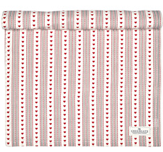 GreenGate Tischläufer Micha Red 45x140