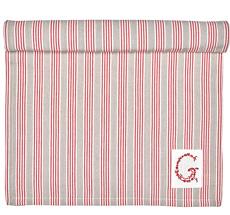 GreenGate Tischläufer Nora Red 45x140