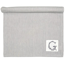 GreenGate Tischläufer Thea Warm Grey 45x140
