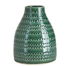 "House Doctor Vase ""Circles"" Emerald Green"