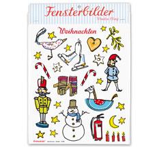 krima & isa Bastelbogen Winter A3