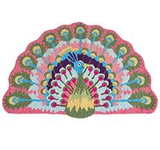 Rice Fußabtreter Peacock Pink & Green
