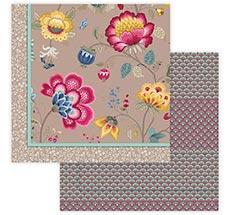 PIP Studio Tagesdecke Floral Fantasy Khaki