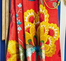 PIP Studio Strandlaken Floral Fantasy Cayenne