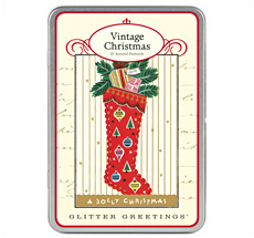 Cavallini Christmas Glitter Greetings Weihnachtskarten