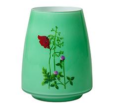 Rice Vintage Glas-Vase Flower Grün