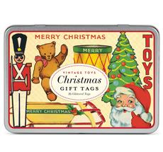 Cavallini Geschenkanhänger Christmas Toy Glitter