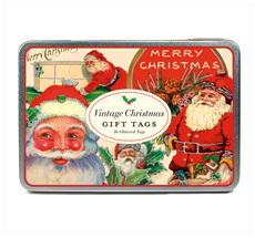 Cavallini Geschenkanhänger Vintage Holidays Glitter
