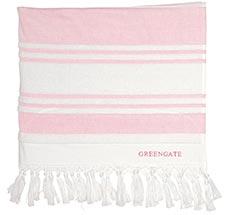GreenGate Handtuch Hammam Stripe Pale Pink