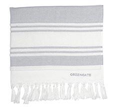GreenGate Handtuch Hammam Stripe Grey