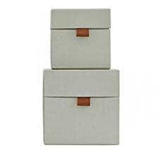 House Doctor Aufbewahrungs-Box STD 2er-Set Grau Klein