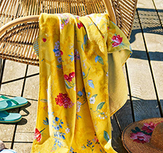PIP Studio Strandlaken Hummingbirds Ceylon Yellow