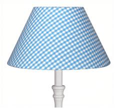 Lampenschirm groß Vichykaro Hellblau