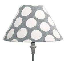 GreenGate Lampenschirm Aura Grey 17 cm