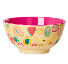 Rice Melamin Schüssel Two Tone Tutti Frutti