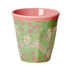 Rice Melamin Becher Two Tone Butterfly & Flower