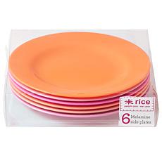 Rice Melamin Teller Pink/Orange 6er-Set
