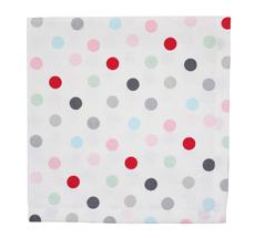 Krasilnikoff Stoffserviette White Multi Dots