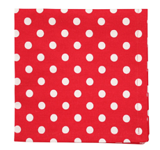 Krasilnikoff Stoffserviette Red White Dots