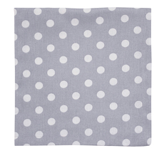 Krasilnikoff Stoffserviette Grey White Dots