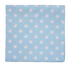 Krasilnikoff Stoffserviette Baby Blue White Dots