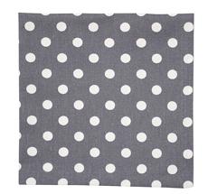 Krasilnikoff Stoffserviette Charcoal White Dots