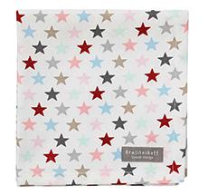 Krasilnikoff Stoffserviette Small Star Multi White