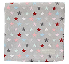 Krasilnikoff Stoffserviette Small Star Multi Grey