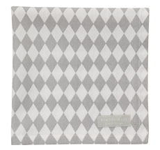 Krasilnikoff Stoffserviette Small Harlekin Light Grey