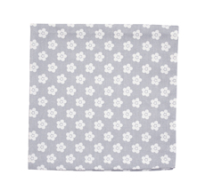 Krasilnikoff Stoffserviette Grey Retro Flower