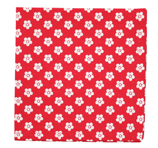 Krasilnikoff Stoffserviette Red Retro Flower