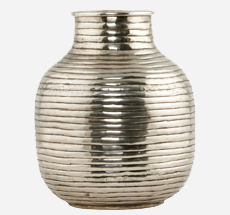 House Doctor Vase Vertical Silberfarben groß