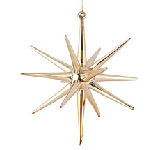 House Doctor Ornament Spike Gold 12 cm