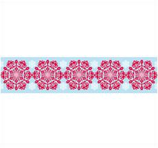 Overbeck & Friends Paketband Schneeflocke Rot
