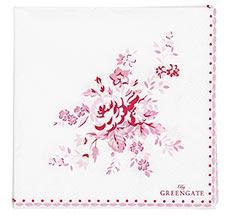 GreenGate Papier-Serviette Abelone Raspberry Small