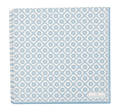 GreenGate Papier-Serviette Bianca Dusty Blue Large