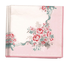 GreenGate Papier-Serviette Betty Pale Pink Small