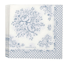 GreenGate Papier-Serviette Stephanie Dusty Blue Small