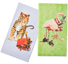 Rice Papier-Servietten Flamingo/Tiger 20 Stück