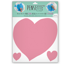 Pensette® by le Prédeau Wandtattoo Herz rosa, beschreibbar