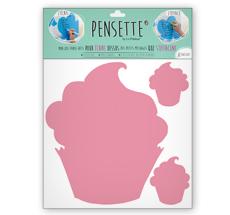 Pensette® by le Prédeau Wandtattoo Cupcake rosa, beschreibbar
