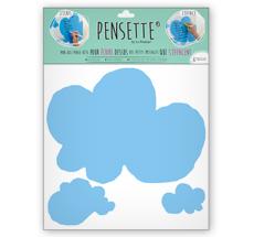 Pensette® by le Prédeau Wandtattoo Wolke himmelblau, beschreibbar