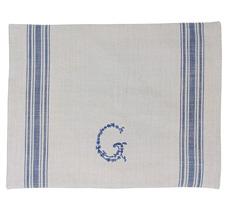 "GreenGate Platzset ""G"" Blue/Warm Grey"
